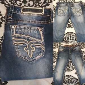 Rock Revival Caro Crop Jeans size 30 Mid rise